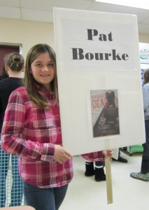 Parry Sound Festival of Trees: my awesome sign carrier and introducer